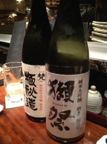 旭酒造「獺祭 純米大吟醸 磨き二割三分」加藤吉平商店「梵 極秘造大吟醸」